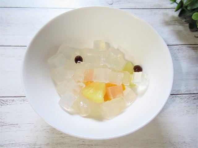 寒天やフルーツを漬けてあるシロップは捨てよう