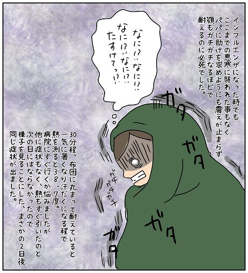 突然襲ってきたのは猛烈な悪寒