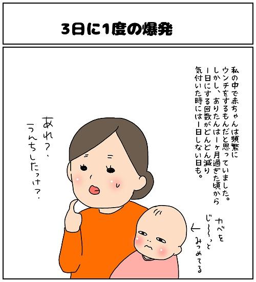 【ナガタさんちの子育て奮闘記~育児マンガ~】「3日に1度の爆発」