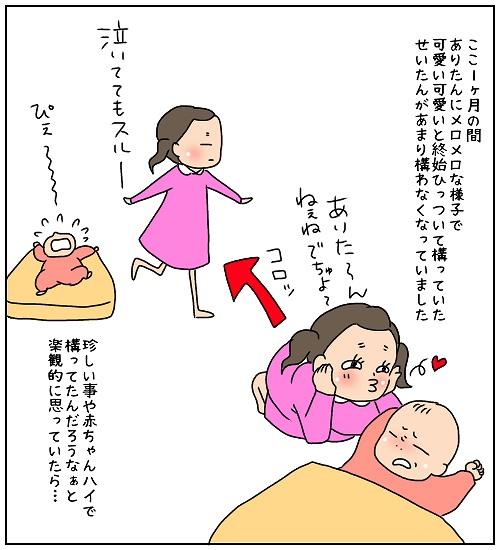 赤ちゃんハイが終わったかと楽観視していましたが、異変は起きました