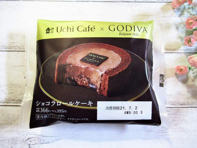 ローソンUchi Café×GODIVA ショコラロールケーキ